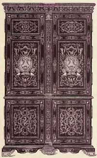 French Armoire   Boulle Style