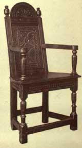 Wonderful Jacobean Chairs   Straight Armrest