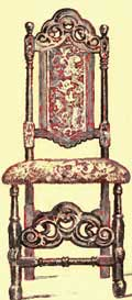 Jacobean Chairs - Velvet Covered Chair